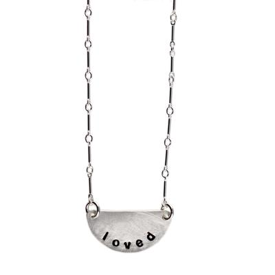 Kelley Reese Sterling Silver Loved Necklace