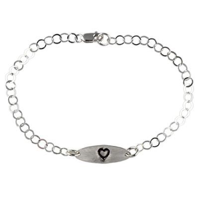 Kelley Reese Sterling Silver Tiny Heart Bracelet