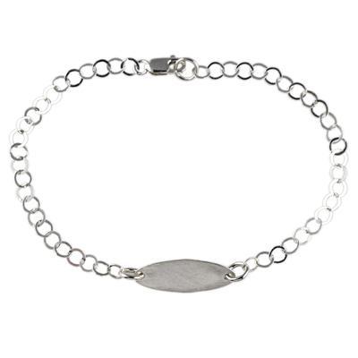 Kelley Reese Sterling Silver Tiny Oval Bracelet