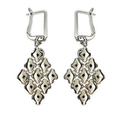 Liquid Metal Large Diamond Earrings