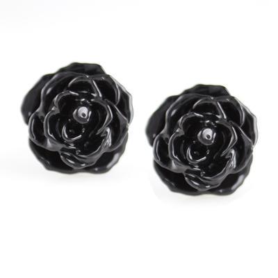 Black Rose Studs