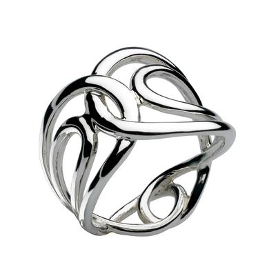 Kit Heath Sterling Silver Looped Infinity Ring