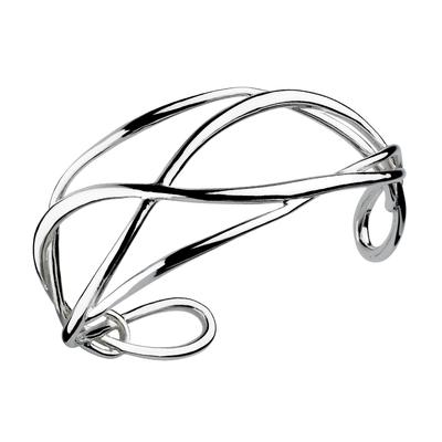 Kit Heath Sterling Silver Looped Infinity Cuff Bracelet