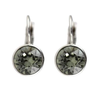 Roberto Martinez Black Diamond Swarovski Crystal Earrings