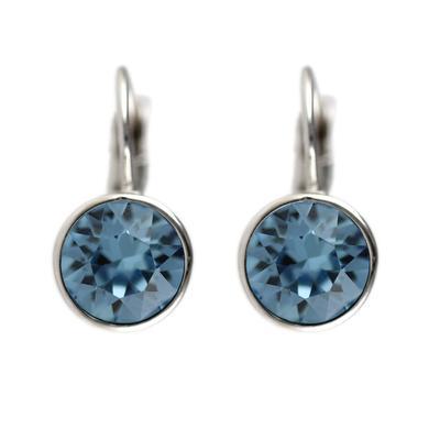 Roberto Martinez Aquamarine Swarovski Crystal Earrings