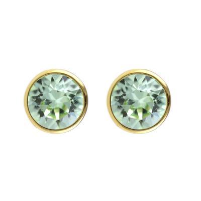 Roberto Martinez Gold & Chrysolite Swarovski Crystal Studs