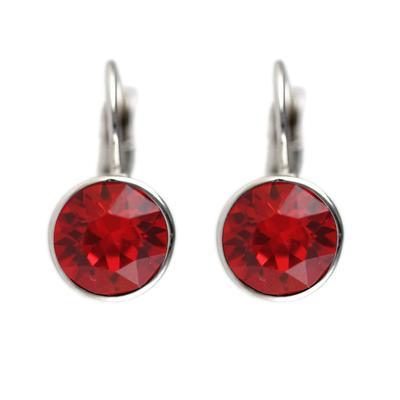 Roberto Martinez Light Siam Swarovski Crystal Earrings