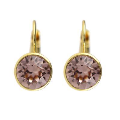 Roberto Martinez Gold & Vintage Rose Swarovski Crystal Earrings