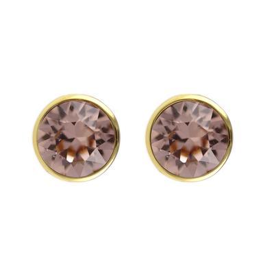 Roberto Martinez Gold & Vintage Rose Swarovski Crystal Studs