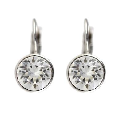 Roberto Martinez Clear Swarovski Crystal Earrings