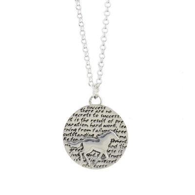 Kevin N Anna Sterling Silver Horse - Success Necklace