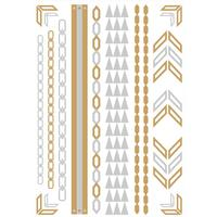 Metallic Temporary Tattoos - Chevrons & Arm Bands