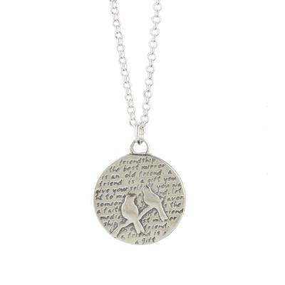 Kevin N Anna Sterling Silver Birds - Friendship Necklace