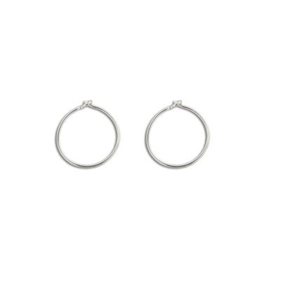Extra Small Thin Sterling Silver Hoops