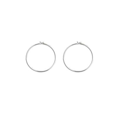 Small Thin Sterling Silver Hoops