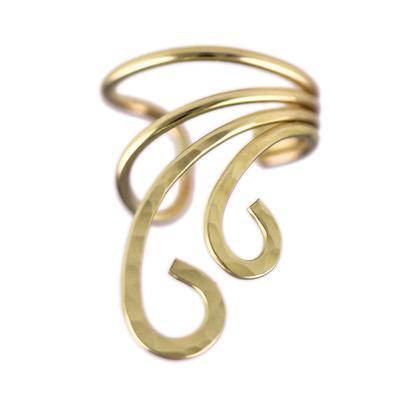Hammered Gold Filled Spiral Ear Cuff