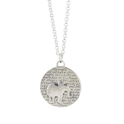 Kevin N Anna Sterling Silver Elephant - Strength Necklace