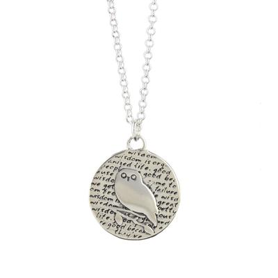 Kevin N Anna Sterling Silver Owl - Wisdom Necklace