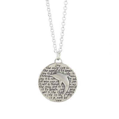 Kevin N Anna Sterling Silver Dolphin - Joy Necklace