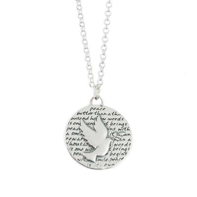 Kevin N Anna Sterling Silver Dove - Peace Necklace