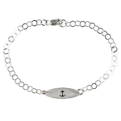 Kelley Reese Sterling Silver Tiny Anchor Bracelet
