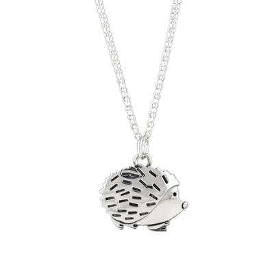 Far Fetched Sterling Silver Hedgehog Necklace