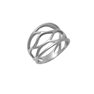 Boma Leafy Sterling Silver Cut Out Ring