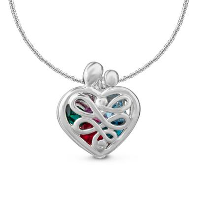 Loving Family Sterling Silver Mother's Locket Necklace