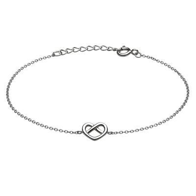 Kit Heath Sterling Silver Heart Knot Bracelet