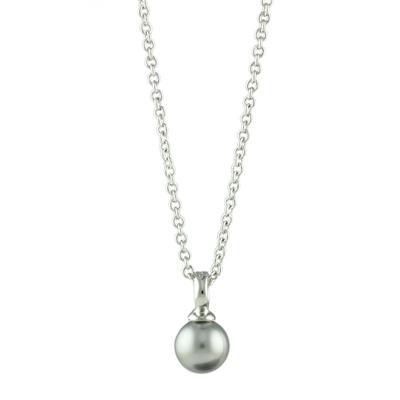 Roberto Martinez Grey Swarovski Pearl Necklace