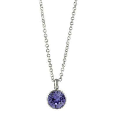 Roberto Martinez Tanzanite Swarovski Crystal Necklace
