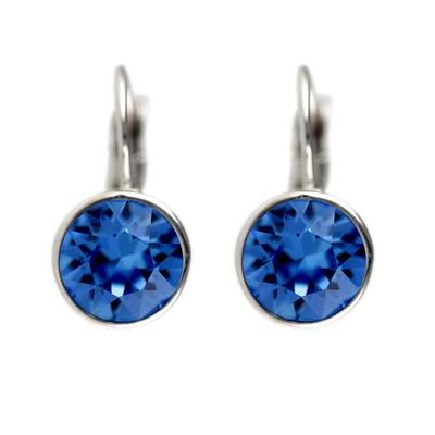 Roberto Martinez Capri Blue Swarovski Crystal Earrings