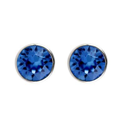 Roberto Martinez Capri Blue Swarovski Crystal Studs