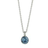 Roberto Martinez Aquamarine Swarovski Crystal Necklace