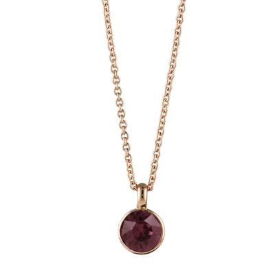 Roberto Martinez Rose Gold & Burgundy Swarovski Crystal Necklace