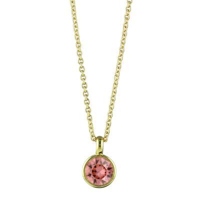 Roberto Martinez Gold & Rose Peach Swarovski Crystal Necklace