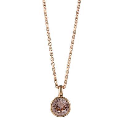 Roberto Martinez Rose Gold & Vintage Rose Swarovski Crystal Necklace