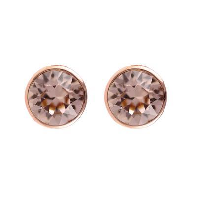 Roberto Martinez Rose Gold & Vintage Rose Swarovski Crystal Studs