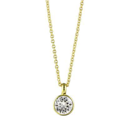 Roberto Martinez Gold & Clear Swarovski Crystal Necklace