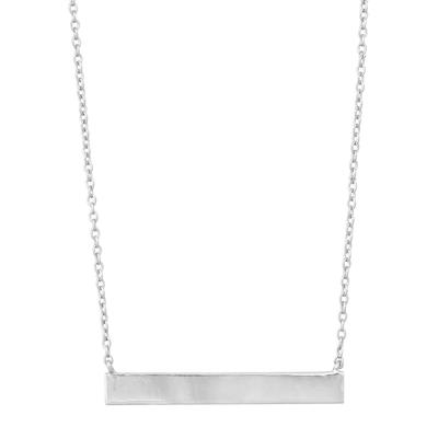Sterling Silver Wide Bar Necklace