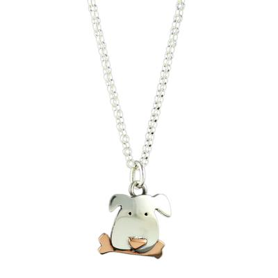 Far Fetched Sterling Silver Dog Necklace
