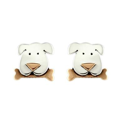 Far Fetched Sterling Silver Dog Studs