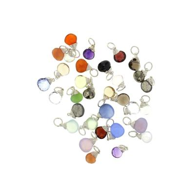 Sterling Silver Gemstone Trinket Charms
