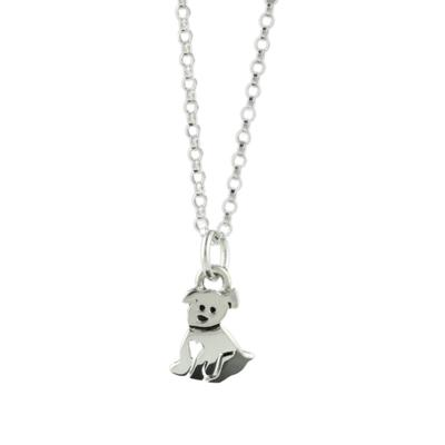 Far Fetched Sterling Silver Puppy Necklace