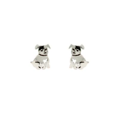 Far Fetched Sterling Silver Puppy Studs