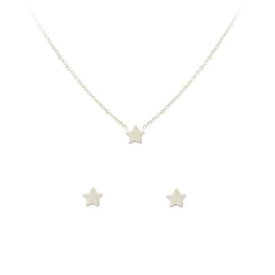 Kitsch Star Necklace & Stud Set