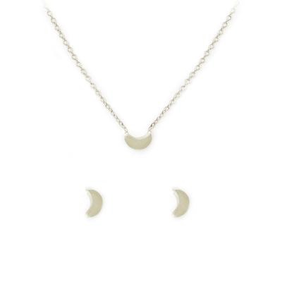 Kitsch Moon Necklace & Stud Set