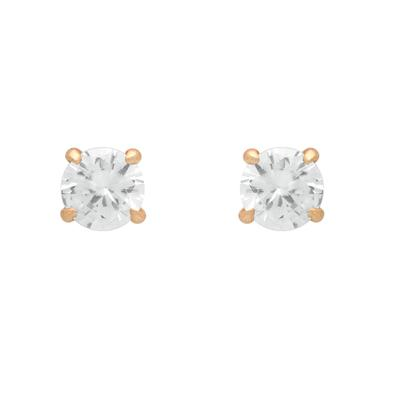 Rose Gold Plated Eagle Claw Set Cz Studs