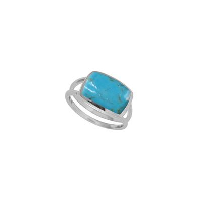 Boma Sterling Silver & Rectangle Turquoise Ring