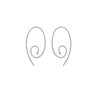 Boma Sterling Silver Oval Swirl Hoops